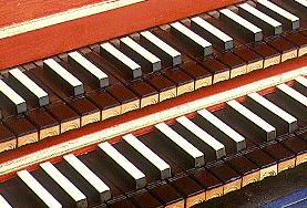 Клавесин, клавиатура - мануал